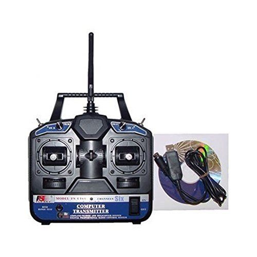 Heli Controller - Flysky FS 6CH 2.4G 6 Channel FS-CT6B RC Transmitter Remote Controller with Receiver for Heli/Airplane/Glid/Copter