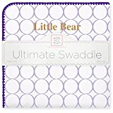 SwaddleDesigns Ultimate Swaddle Blanket, Made in USA Premium Cotton Flannel, Miles College, Little Bear (Mom's Choice Award Winner)