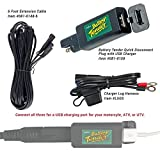 Battery Tender 6' Cable, Lugs, and USB Charger Combo Kit