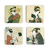 The Metropolitan Museum of Art Japanese Women Coasters