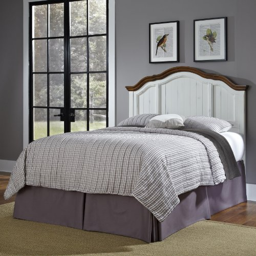 French Style Headboards - French Countryside Oak/White Headboard Full/Queen by Home Styles