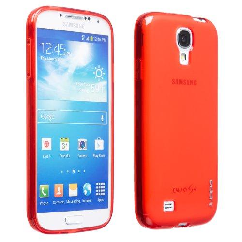Juppa® Samsung Galaxy S4 GT-I9500 TPU Silicone TPU Coque avec Film de Protection Ecran - Rouge