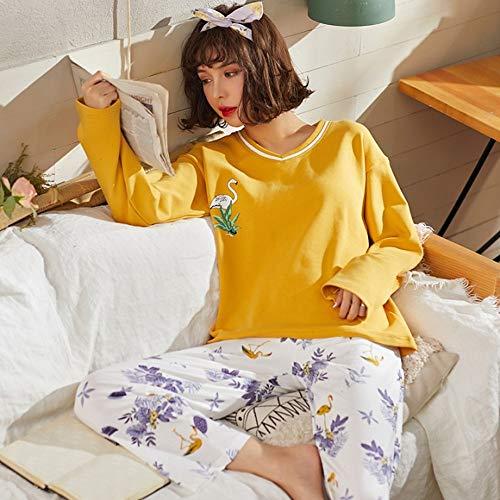 Ahsxl Para Pijama Xxl Home Mujer Mangas De Largas Algodón Conjunto L Wear r7rROWZqTc