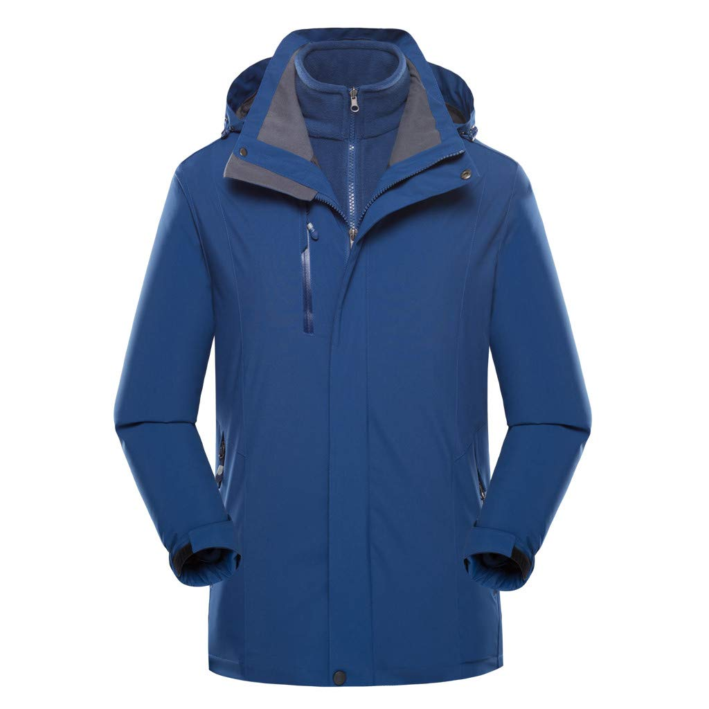 LUCAMORE Jacket Waterproof for Men Women Sailing All Outdoor Sports Rain Coat Warm Fleece Lined with Removable Hood by Luca-Coat