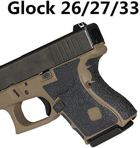 Non-slip Rubber Texture Grip Wrap Tape Glove holster Fit For Pistol Gun PhoT cl