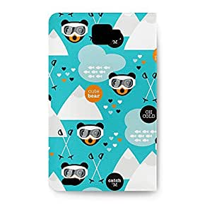 Leather Folio Phone Case For Samsung Galaxy Note 1 Leather Folio - Ski Fun Bears Wallet Cover wangjiang maoyi