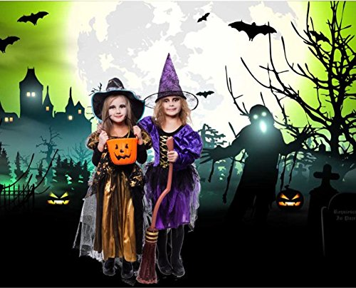 Allenjoy 7x5ft Photography Backdrops ghost and bats wandering in the gloomy night Halloween Background for Children shooting Photo Studio Photobooth