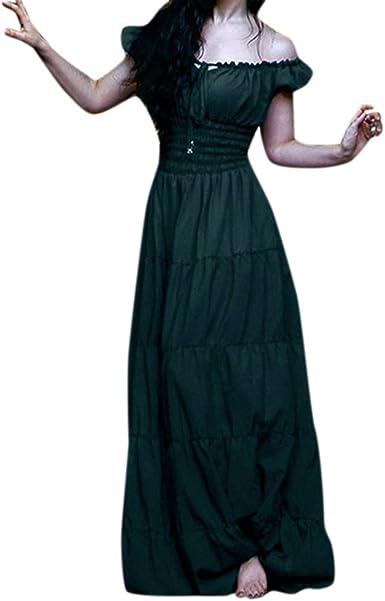 Vestido de Verano para Mujer, Estilo Vintage, Cuello Celta ...