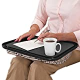 Hometom Lapdesks, Desk For Laptop Chair Student Studying Homework Writing Portable Dinner Tray Travel (Black)