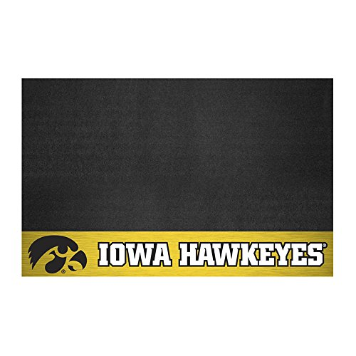 FANMATS NCAA University of Iowa Hawkeyes Vinyl Grill Mat