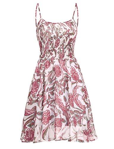 Chiffon kleid mit blumenprint