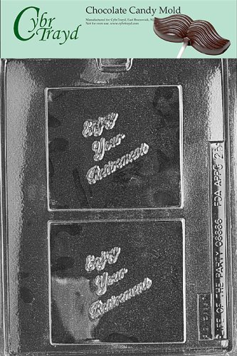 (Cybrtrayd Life of the Party G025 Retirement Greeting Card Chocolate Candy Mold in Sealed Protective Poly Bag Imprinted with Copyrighted Cybrtrayd Molding Instructions)