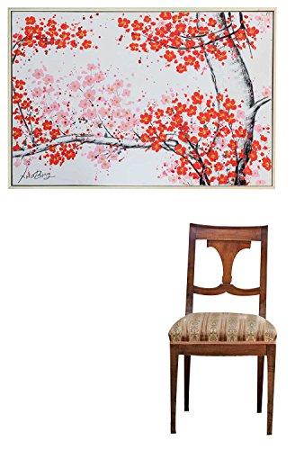 Original Ölgemälde mit Rahmen Gemälde Baum Blüten Bild 124x84cm