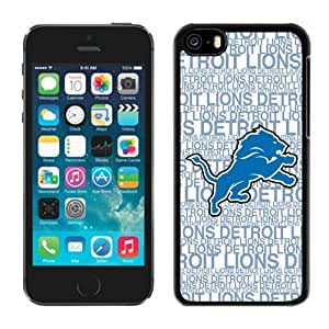 Personalized Gift Special Iphone 5c Case NFL Detroit Lions 16 Team Newest Design Sports Cellphone Protector