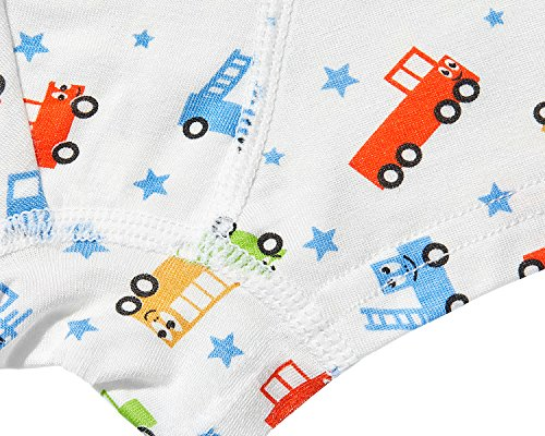 Cotton Underwear Boys Toddler Boxer Briefs Underwear Mix Color 5 Pack (AL001-XL) by CC&La Dame (Image #6)