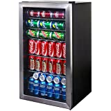 NewAir AB-1200 Beverage Cooler, 126 Can, Stainless Steel