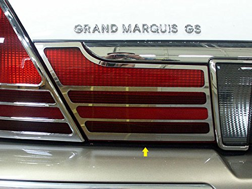 QAA FITS GRAND MARQUIS 2003-2010 MERCURY (2 Pc: Stainless Steel Taillight Extension Bezels, 4-door, GS, LS) TL43481