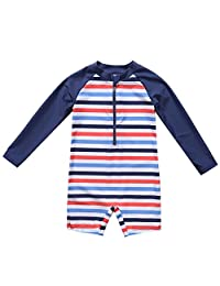 maysoul Baby Girls UV Sun Protective Rash Guard Zipper One Piece Swimsuit