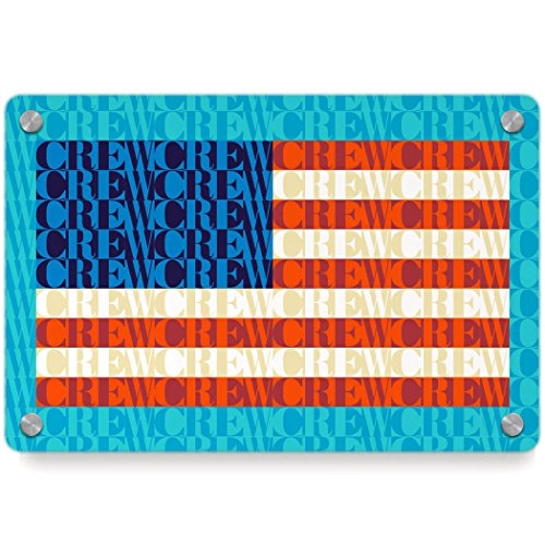 American Flag Mosaic | Crew Metal Wall Art Panel by ChalkTalkSPORTS | Multiple Colors