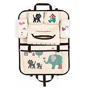 Car Seat Back Organizer Kids Toy Storage Multifunctional [Multi-Pocket] Durable Hanging Organizer Elephant