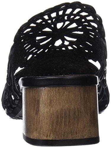 Mascaro Damen 47307 Peeptoe Sandalen schwarz (Coton schwarz)
