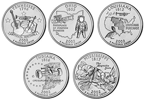 2002 P, D BU Statehood Quarters – 10 coin Set Uncirculated