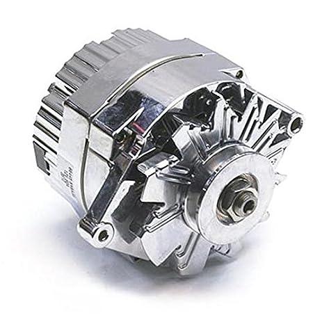 amazon com speedway motors gm chrome one wire alternator, 60 amp marine alternator wiring speedway motors gm chrome one wire alternator, 60 amp