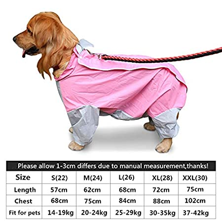 Ropa para Perros Grandes Impermeable Impermeable Trajes para ...