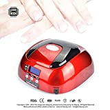 Koi Beauty Professional Nail Dryer 48W LED Lamp Light Beauty Product Showing Time Process Convenient Machine (Red)