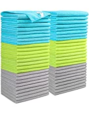 AIDEA Microfiber Cleaning Cloths Softer Highly Absorbent, Lint Free Streak Free for House, Kitchen, Car, Window (12in.x 16in.)—50PK