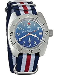 Vostok Amphibian Automatic Mens WristWatch Self-winding Military Diver Amphibia Case Wrist Watch #150289 (tricolor)