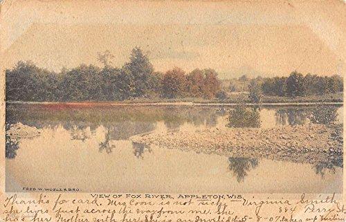 Appleton Wisconsin Fox River Waterfront Antique Postcard - Fox Appleton