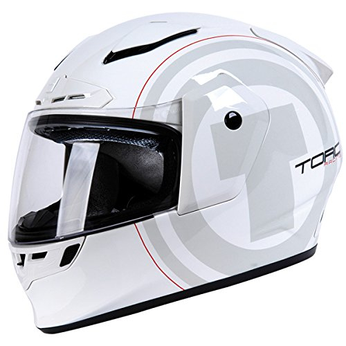 Torc T-19 Phantom White Nova Full Face Helmet - X-Small