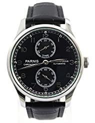 Parnis Men's Portugal Style Automatic Watch Seagull Movement St25 Energy Display by Parnis