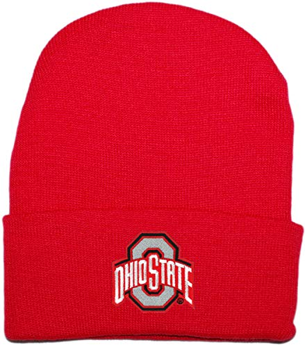 Creative Knitwear NCAA Big Ten Newborn Baby Knit Cap (Ohio State Red) - Ncaa Infant Wool