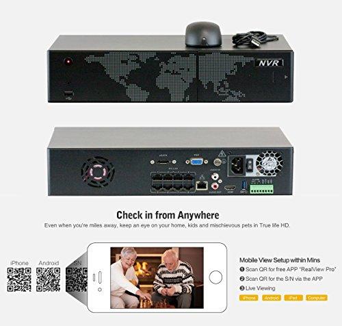 amazon com gw security 8 camera 1080p poe ip cctv kit 6 x 1080p rh amazon com