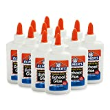 Elmer's Liquid School Glue, Washable, 4 Ounces Each , 12 Count - Great for Making Slime