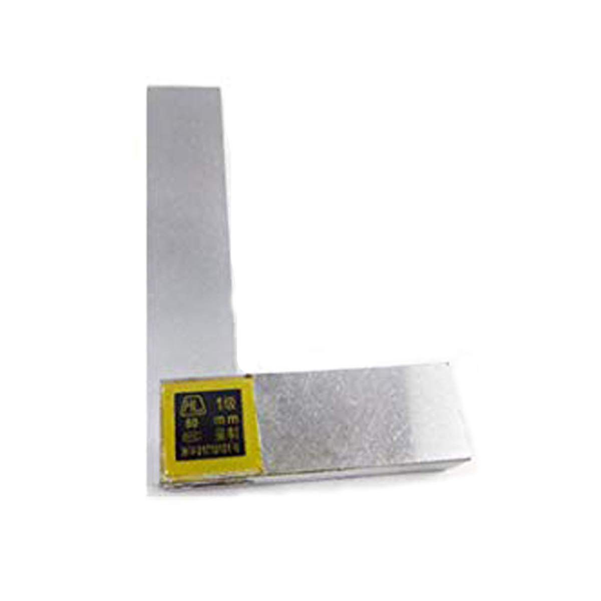 XMHF 80mmx50mm L Shaped Non marked Bevel Edge Square Welding Ruler Gauge