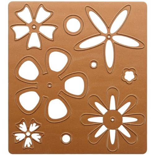 Spellbinders 4-Inch-by-4-1/4-Inch Wizard Cutting and Embossing Die, Flower Creations