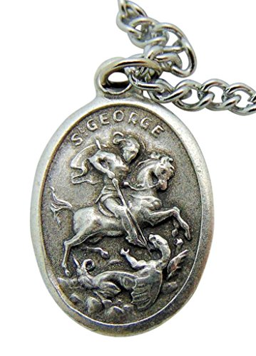 - Westman Works Saint George Patron Saint Medal 3/4 Inch Long with Stainless Steel Chain