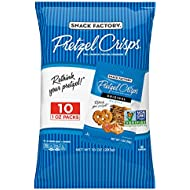 Snack Factory Pretzel Crisps Original Flavor, Snack Packs Individual Sized 1 Ounce, 10 Count