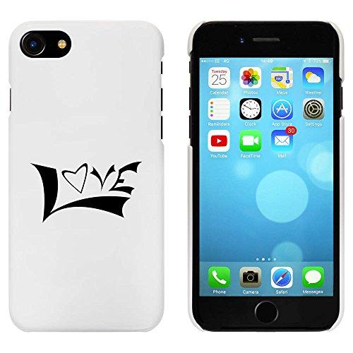 Blanc 'Amour' étui / housse pour iPhone 7 (MC00069990)