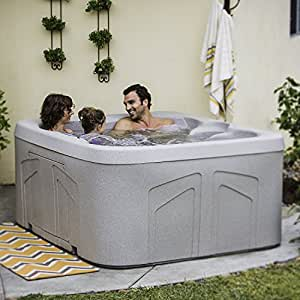 Aquaterra Benicia Plug In 4 Person Hot Tub Spa w/ Cover (Certified Refurbished)