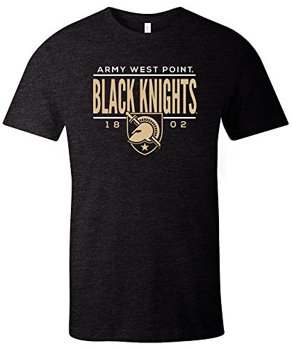 Ncaa Army Black Knights Tradition Short Sleeve Tri Blend T Shirt  Solid Black Large