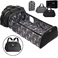 PARENTS LOVE BABY BASSINET BEDSIDE SLEEPERS as ideal infant travel systems. A travel bed for baby with portable changing table. Multi-carry portable bassinet with diaper bags. Stylish and unisex gray or black diaper bag. Why Laluka? DESIGN: O...