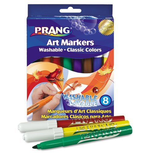 Prang Washable Markers, Eight Assorted Colors, 8/Set