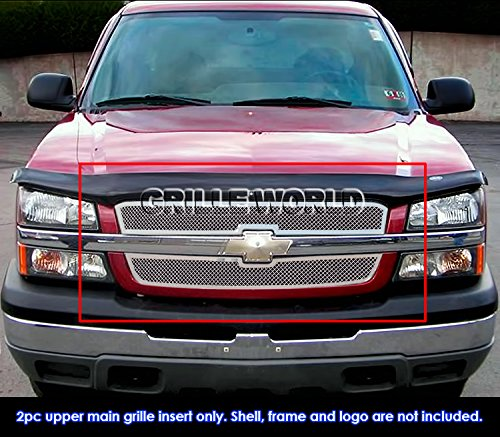 APS Fits 2003-2005 Chevy Silverado 1500//03-04 2500 Mesh Grille #C75717T