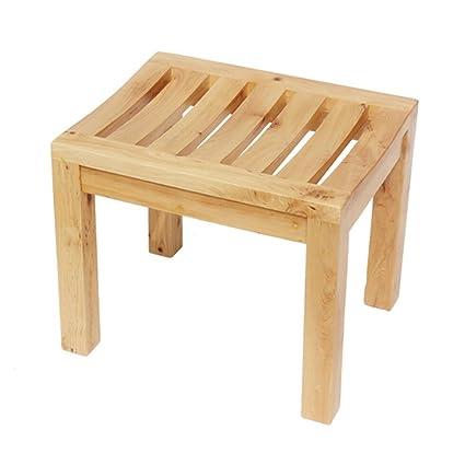 Sgabello da bagno, panca antiscivolo da bagno in legno, sedile da ...