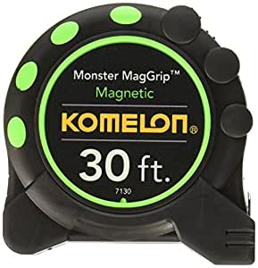 Komelon 7130 Monster MagGrip 30-Feet Measuring Tape with Magnetic End