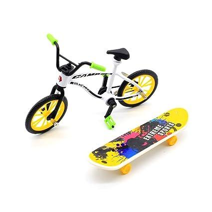 STOBOK Mini Diapasón Patineta Bicicleta Mini Dedo Deportes ...